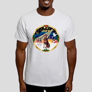 XmasSunrise/Doberman Pinscher (red) Light T-Shirt