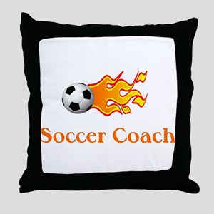 Soccer Coach Throw Pillow
