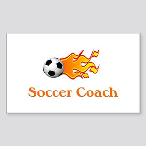 Soccer Coach Rectangle Sticker 10 pk)