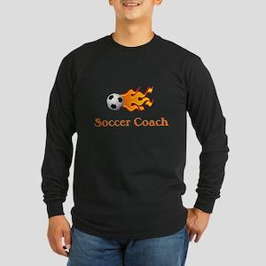 Soccer Coach Long Sleeve Dark T-Shirt