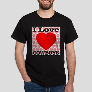 I Love Cowboys Dark T-Shirt