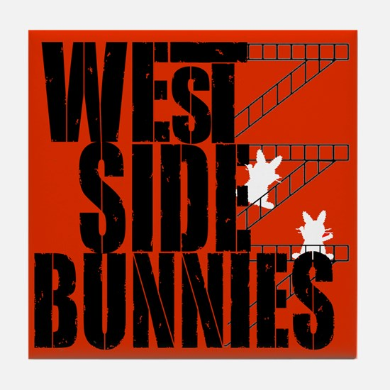 West Side Bunnies Tile Coaster