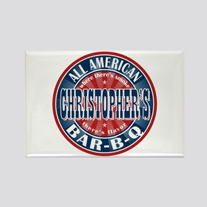 Christopher's All American BBQ Rectangle Magnet