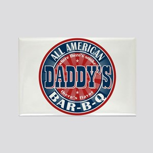 Daddy's All American BBQ Rectangle Magnet