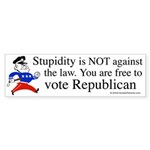 you are free 2 vote republica Sticker (Bumper 10 p