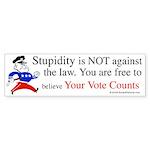 Your vote counts? Bumper Sticker (50 pk)