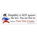 Your vote counts? Bumper Sticker (10 pk)