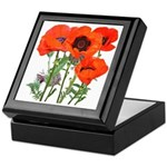 Red Poppies Keepsake Box