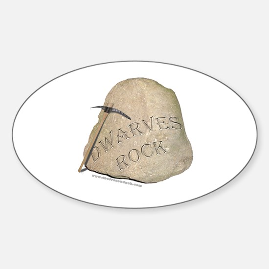 Dwarves Rock - Pickaxe Oval Decal