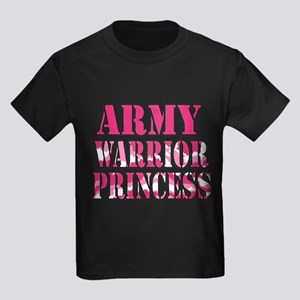 ARMY Warrior Princess Kids Dark T-Shirt