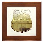 U. S. Male Inspector Framed Tile