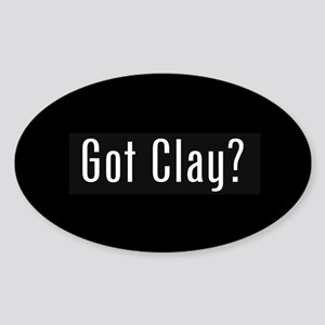 Got Clay Oval Sticker