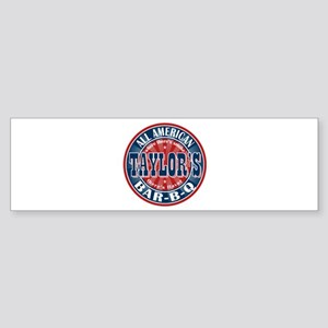 Taylor's All American BBQ Bumper Sticker