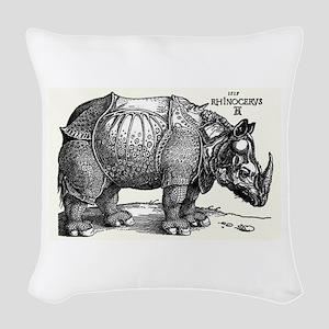 Rhino Woven Throw Pillow