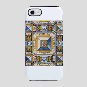Azulejo Azul e Amarelo iPhone 8/7 Tough Case