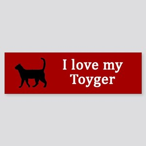 Toyger Love Bumper Sticker