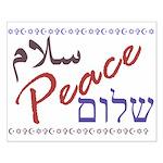 Peace (Arabic, English, Hebre Small Poster