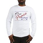 Peace (Arabic, English, Hebre Long Sleeve T-Shirt