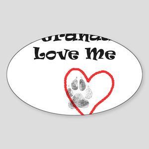 Granddogs Love Oval Sticker