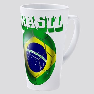 Brasil Football 17 Oz Latte Mug