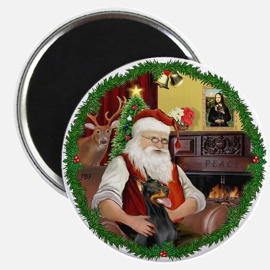 Santa's Doberman Pinscher Magnet
