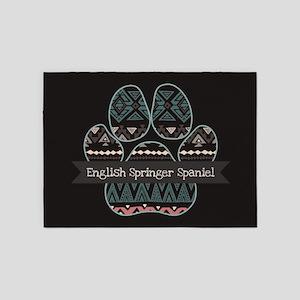 English Springer Spaniel 5'x7'Area Rug