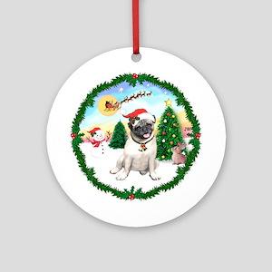 Take Off1/ Pug (#18) Ornament (Round)