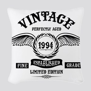 Vintage Perfectly Aged 1994 Woven Throw Pillow