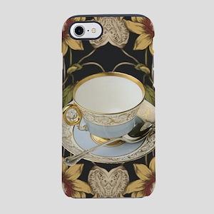 floral tea cup vintage iPhone 8/7 Tough Case