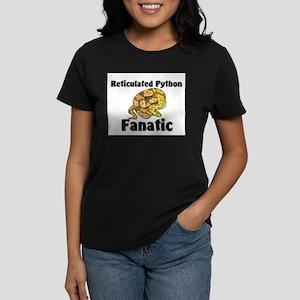 Reticulated Python Fanatic Women's Dark T-Shirt