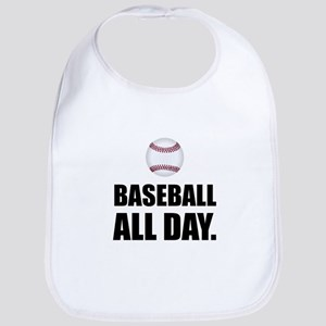 Baseball All Day Baby Bib