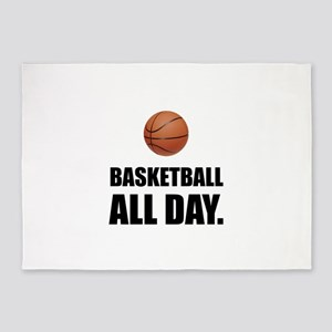 Basketball All Day 5'x7'Area Rug