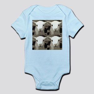 White Lamb Infant Bodysuit