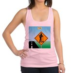 Men Not at Work Sign Racerback Tank Top