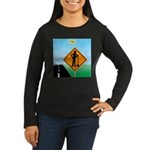 Men Not at Work S Women's Long Sleeve Dark T-Shirt