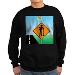 Men Not at Work Sign Sweatshirt (dark)