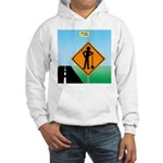 Men Not at Work Sign Hooded Sweatshirt