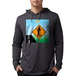 Men Not at Work Sign Mens Hooded Shirt