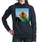 Men Not at Work Sign Women's Hooded Sweatshirt
