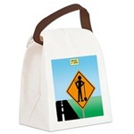 Men Not at Work Sign Canvas Lunch Bag