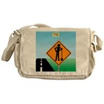 Men Not at Work Sign Messenger Bag