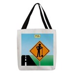 Men Not at Work Sign Polyester Tote Bag