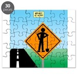 Men Not at Work Sign Puzzle
