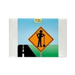Men Not at Work Sign Rectangle Magnet (100 pack)