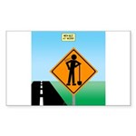 Men Not at Work Sign Sticker (Rectangle 50 pk)