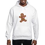 Pink Ribbon Gingerbread Man S Hooded Sweatshirt