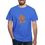 Pink Ribbon Gingerbread Man S Dark T-Shirt