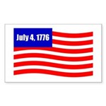 July 4 1776 Rectangle Sticker 10 pk)