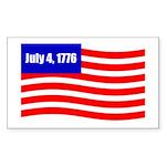 July 4 1776 Rectangle Sticker 10 pk)