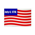 July 4 1776 Rectangle Magnet (100 pack)
